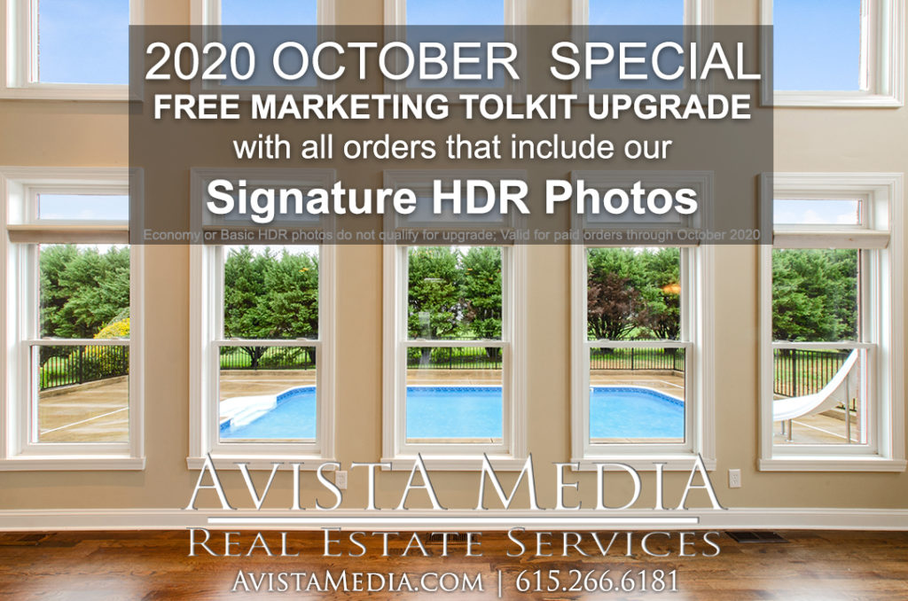 2020 October Special: Free Marketing Toolkit for Signature HDR Real Estate Photography by Avista Media